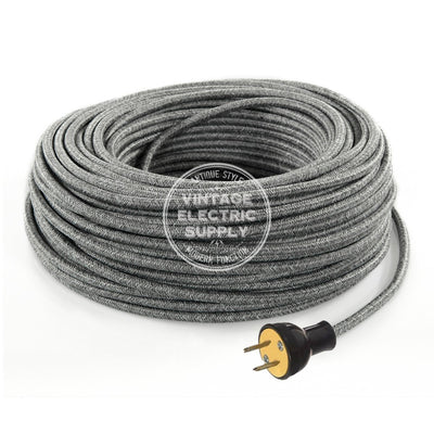 Grey Linen Re-Wire Kit - Vintage Electric Supply