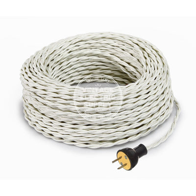 Ivory Rayon Twisted Re-Wire Kit - Vintage Electric Supply