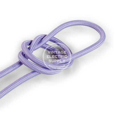 Lilac Rayon Electric Cable  - Vintage Electric Supply