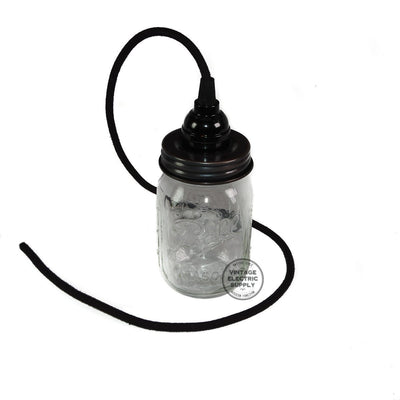 Mason Jar Pendant - Vintage Electric Supply