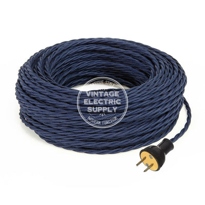 Navy Rayon Twisted Re-Wire Kit - Vintage Electric Supply
