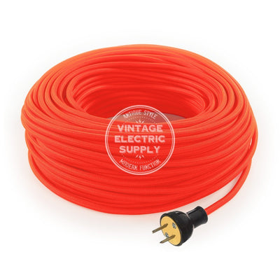 Neon Orange Rayon Re-Wire Kit - Vintage Electric Supply