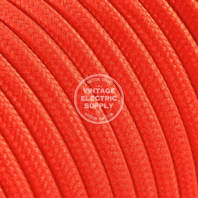 Orange Rayon Electric Cable - Vintage Electric Supply