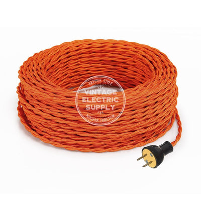Orange Rayon Twisted Re-Wire Kit - Vintage Electric Supply