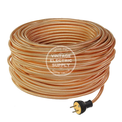 Polished Copper Rayon Industrial Re-Wire Kit - Vintage Electric Supply