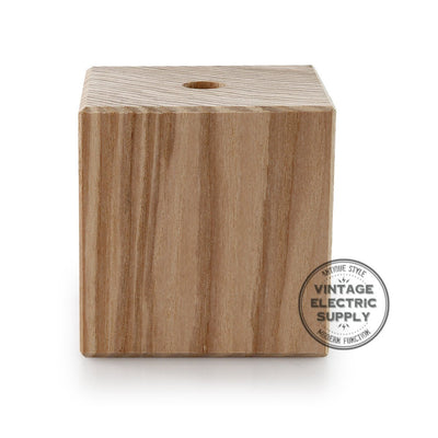 Wood Socket Cover Kit - Cube - Vintage Electric Supply