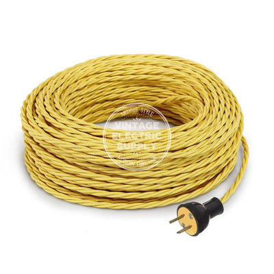 Yellow Rayon Twisted Re-Wire Kit - Vintage Electric Supply