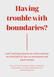 Online Seminar on Boundaries & Assertiveness