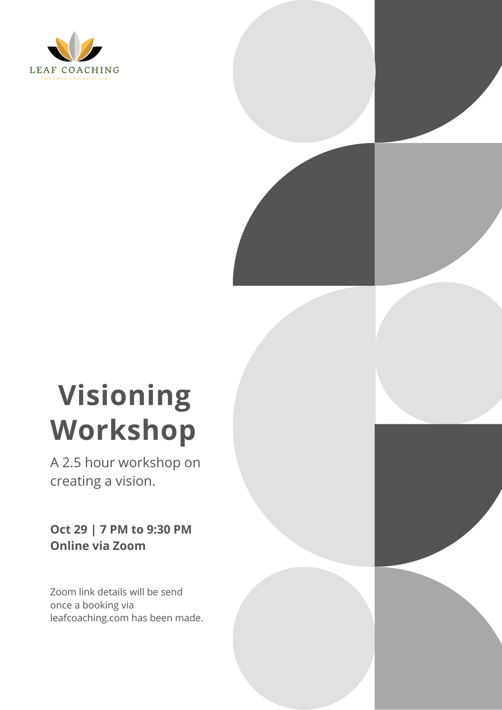 Leaf Coaching Workshop on Visioning & Creating