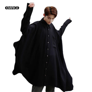 Ultra-loose Long Sleeve Shirts Male