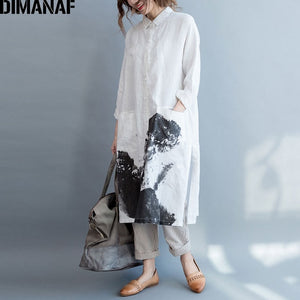 Casual Vintage Linen Chinese Style Blouse