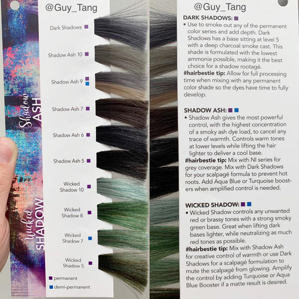 Shadow Ash Collection Swatch Page