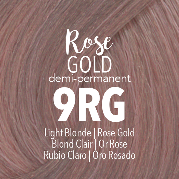 Demi-Permanent Rose Gold