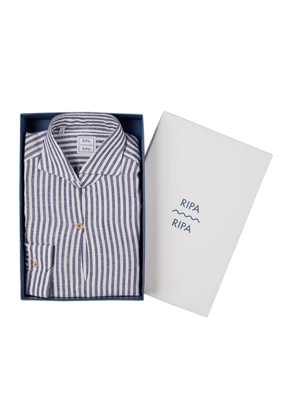 RIPA RIPA Capri Shirt blue stripes