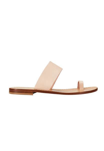 CAPRI.POSITANO Single Toe Band Slides tan light