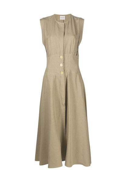 LE KASHA Disnah Linen Dress kaki