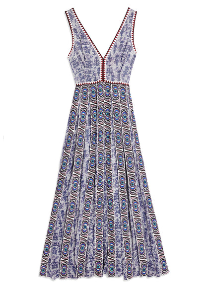 EMPORIO SIRENUSE Hidden Garden Sophia Dress blue