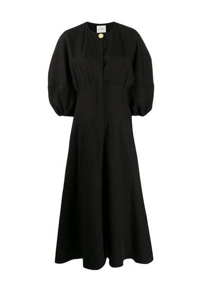 LE KASHA Herwan Linen Dress black