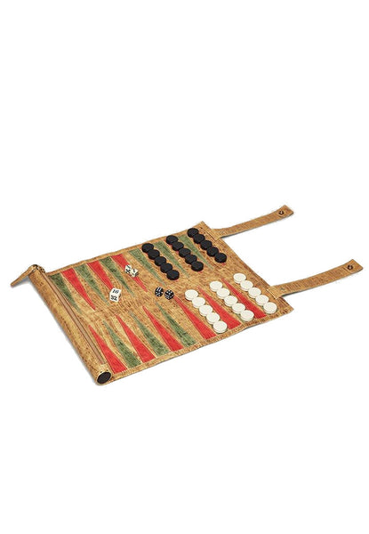 OKAPI Backgammon Board antique saddle