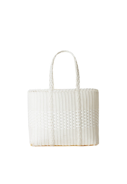 PALOROSA Lace Small Tote Bag white