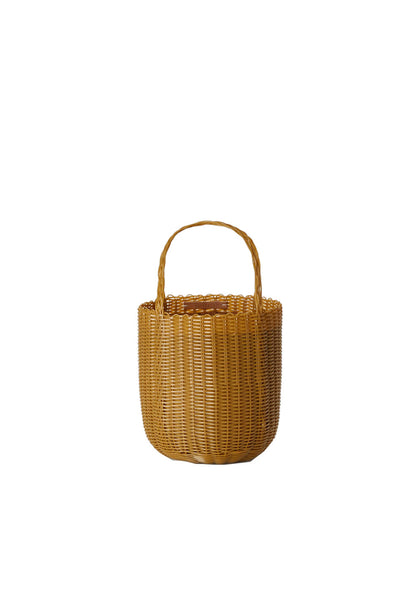 PALOROSA Bucket Small Handle Bag tobacco