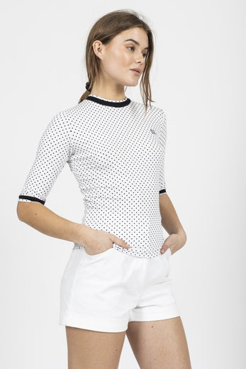 Sophia Lee Ajaja T-Shirt / Black dot - Sophia Lee