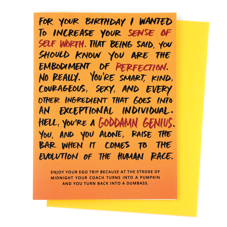 Ego Trip Birthday Card