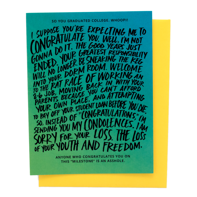Rat Race College Graduation Card