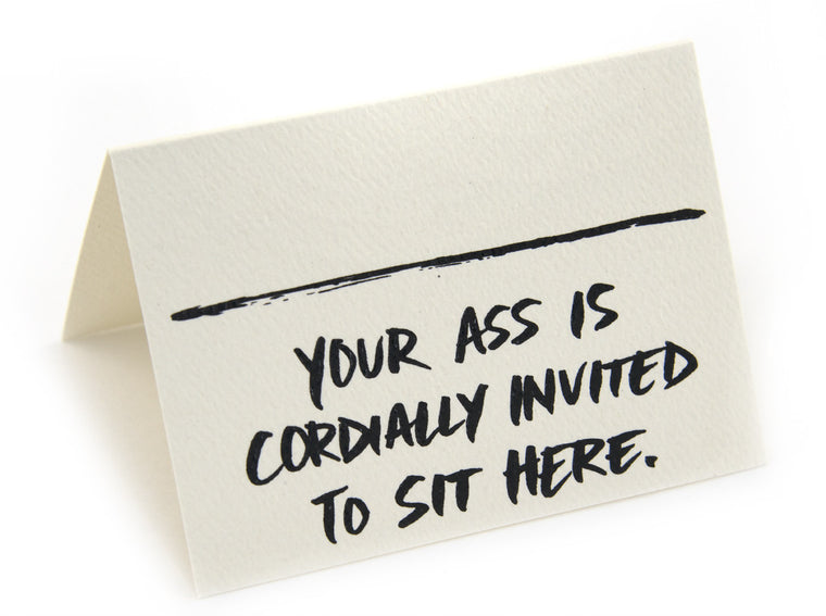 Seating Cards -Pack of 8 Cordially Invited