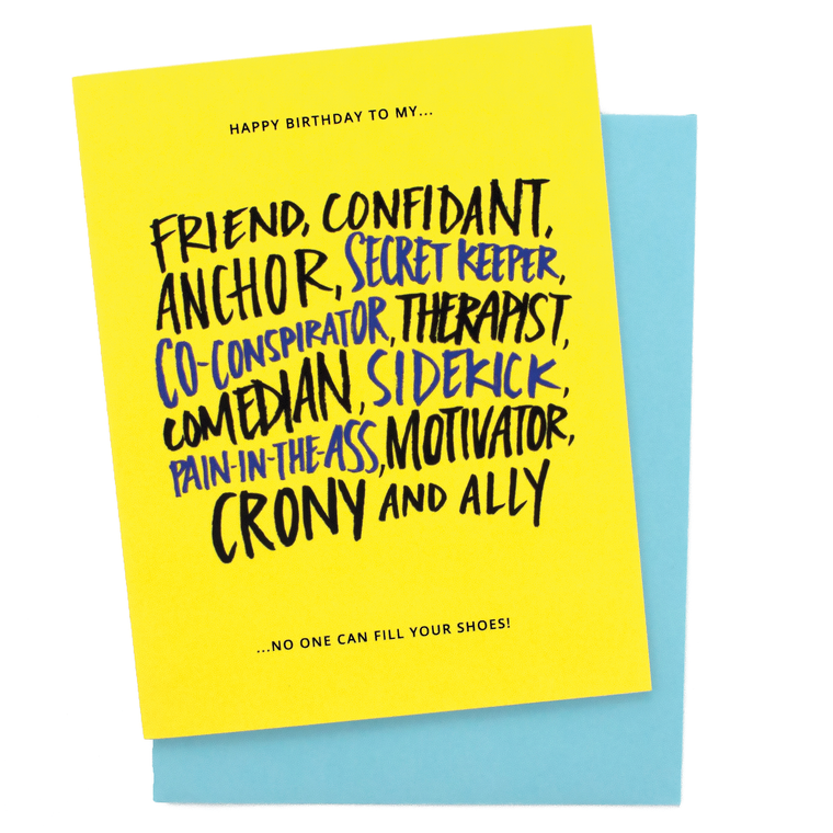 Friend, Confidant Birthday Card
