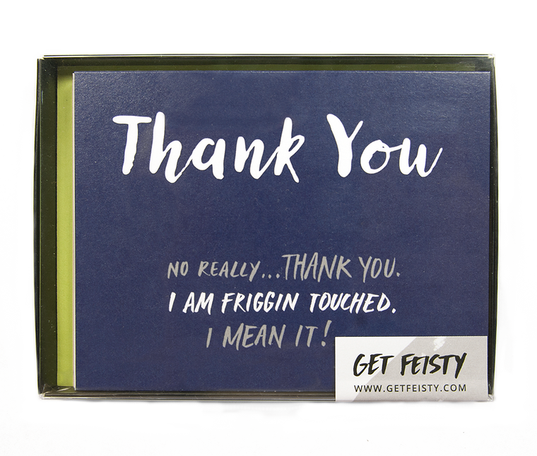 Thank You -I'm Friggin Touched (Set of 8)