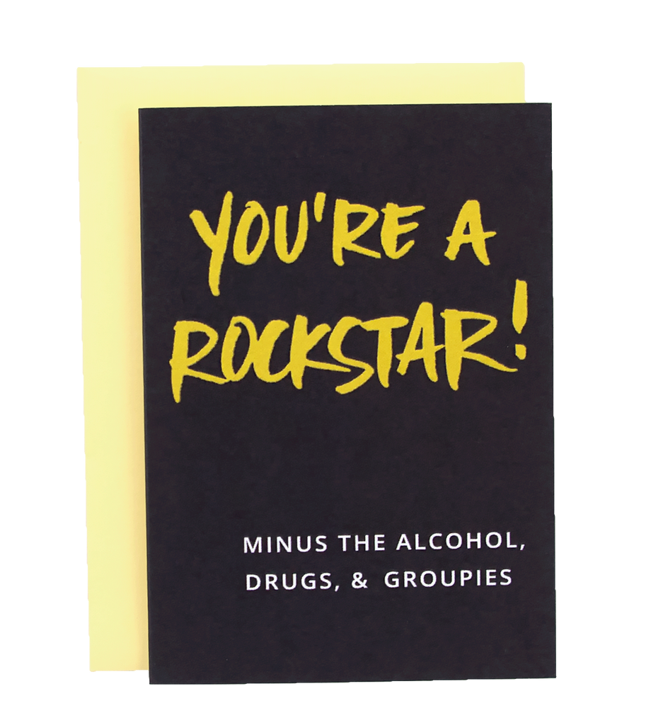 Mini Cards- Pack of 8 You're a Rockstar