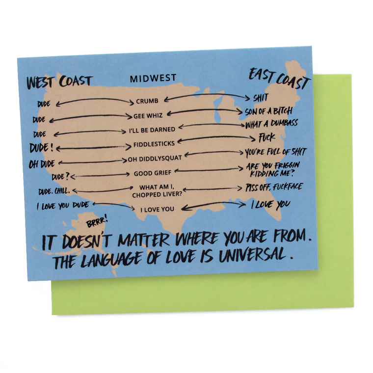 U.S. Map Love Card