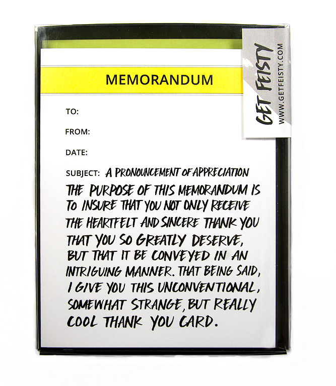 Memorandum Thank You (Set of 8)