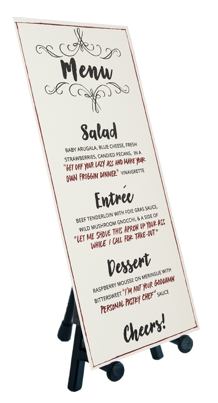 Feisty Menu Card