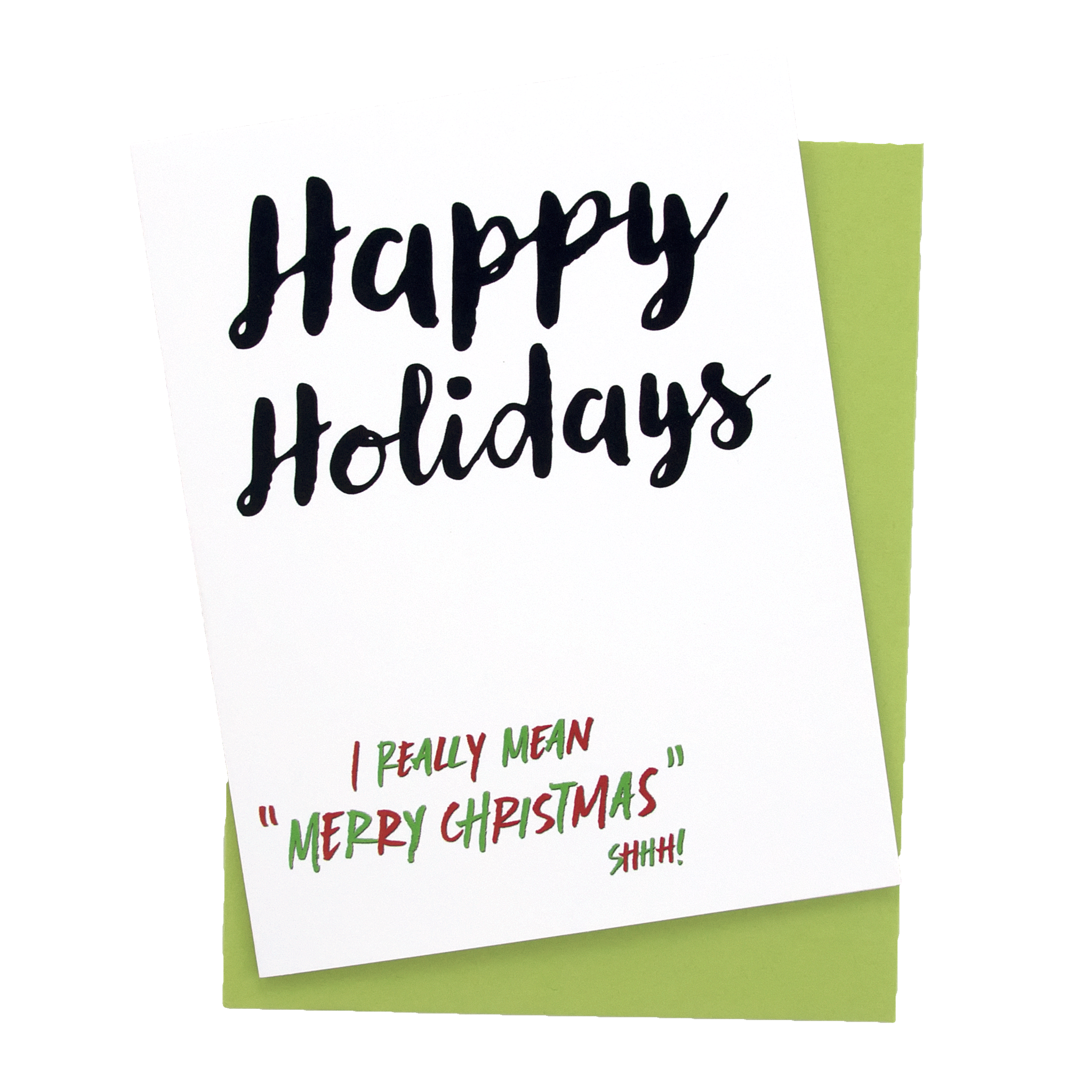 I Really Mean Merry Christmas Card - Get Feisty