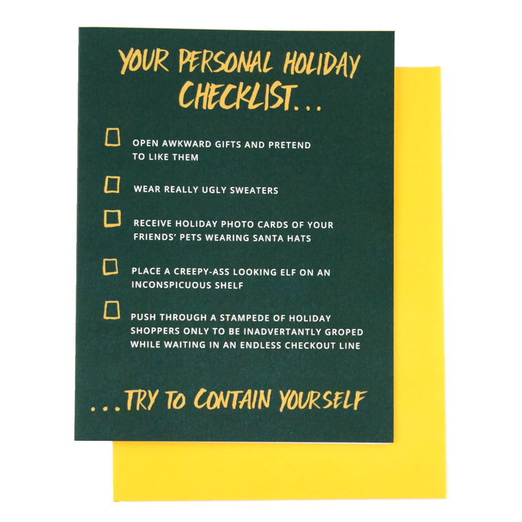 Personal Holiday Checklist Card