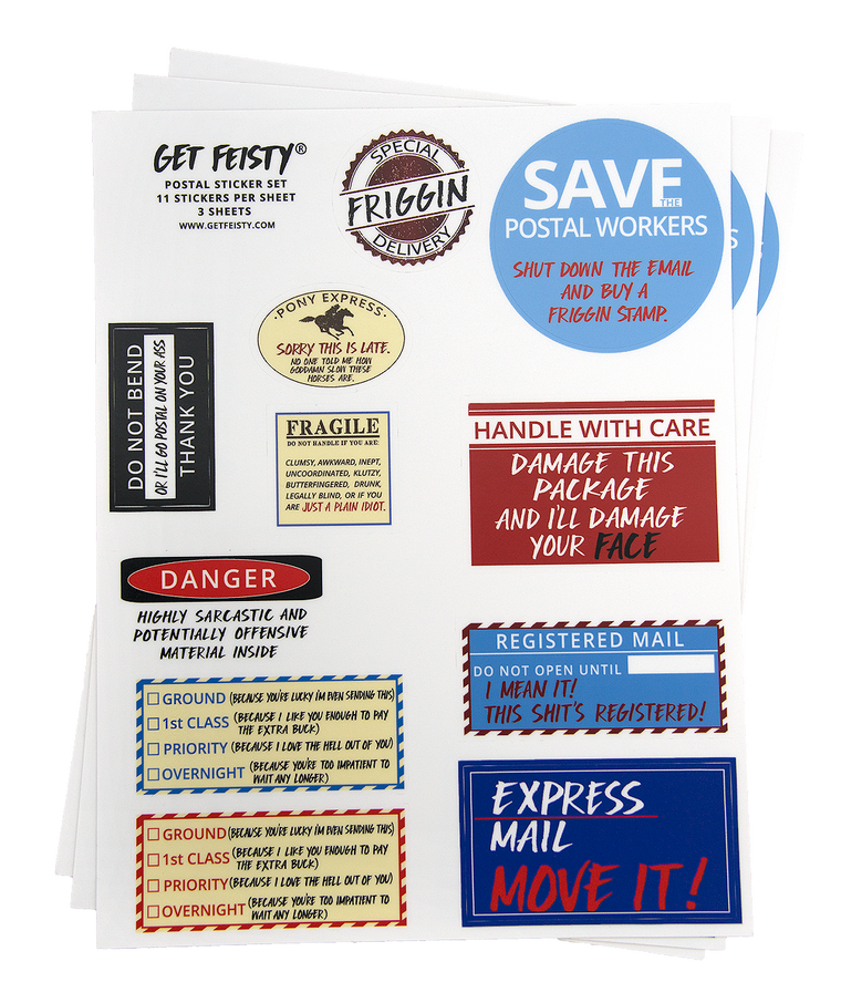 Going Postal Sticker Sheets (Pack of 3)