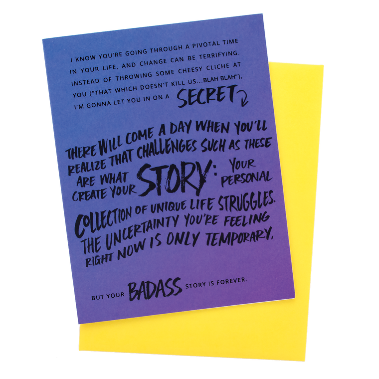 Badass Story Encouragement Card