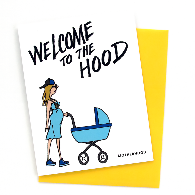 Welcome To The Hood Baby (Boy) Card
