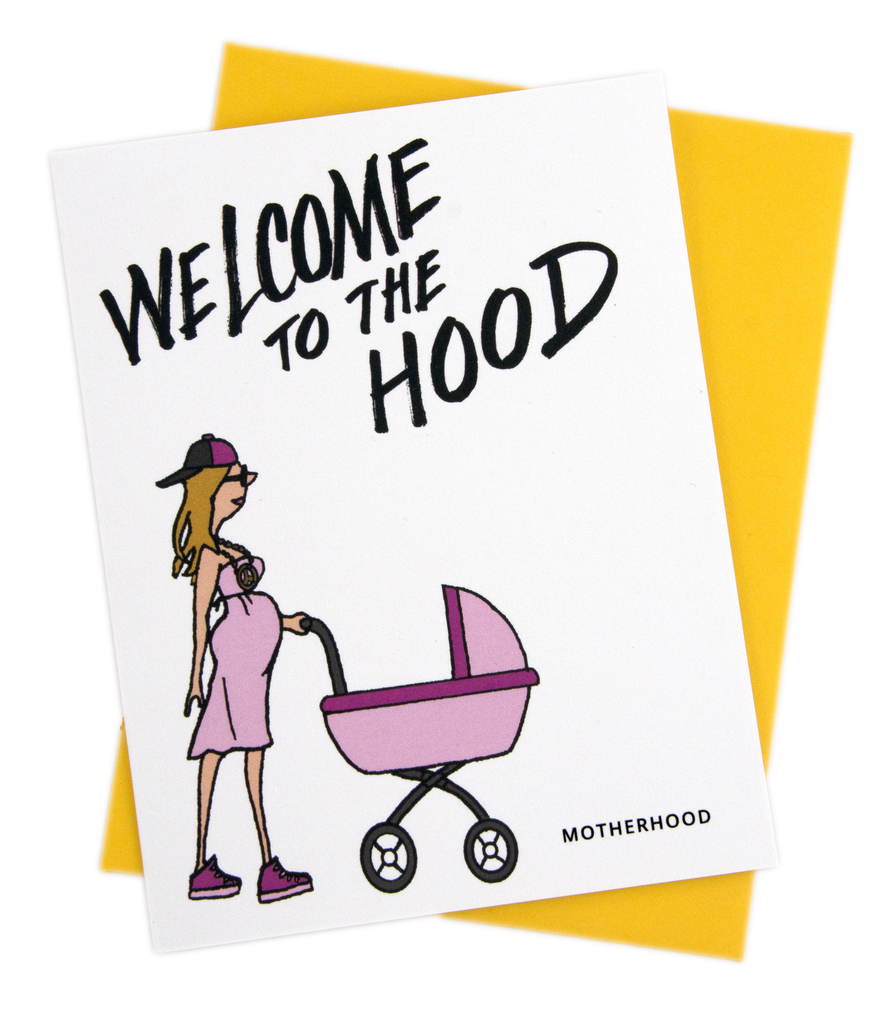 Welcome to the Hood (Girl) Baby Card