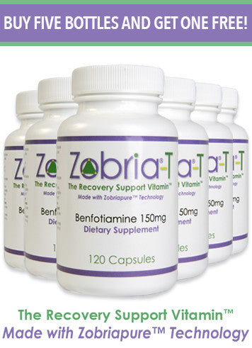 Zobria-T Vitamin B1, Alcohol Recovery, Addiction Recovery, Alcohol Addiction Recovery Support, Vitamin B1, Vitamin B-1, Alcohol Addiction, Recovering Alcohol, Benfotiamine, Dietary Supplement, vitamin b-1 for alcoholism, Vitamin B1 for alcoholism, alcohol rehab support