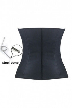 Black 4 Steel Bones Latex Under Bust Corset