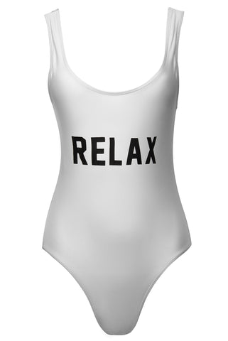 RELAX White One Piece Swimsuit
