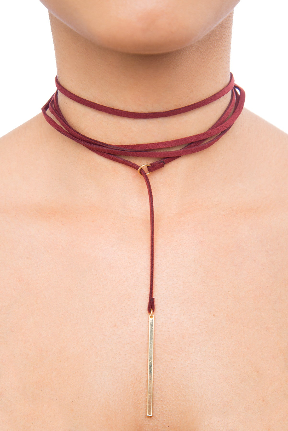 Tally Burgundy Choker