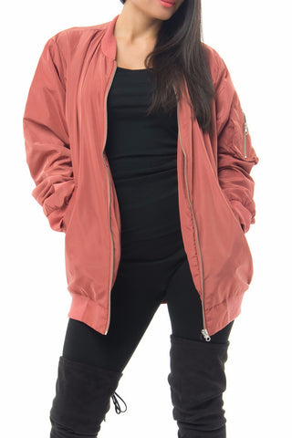 Michell Dusty Pink Bomber Jacket