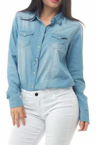 Liz Denim Blouse