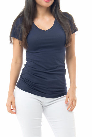 Basic Navy Short Sleeve Top