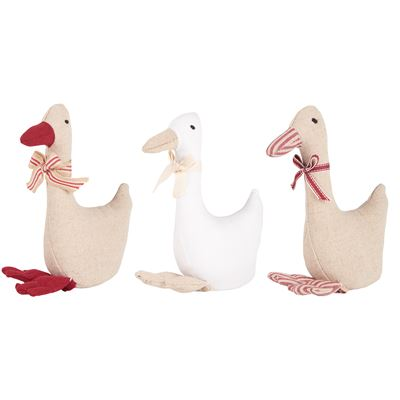 Christmas Fabric Decorative Geese (Set of 3)