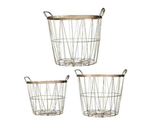 Wire Storage Basket  (Available in Large, Medium or Small)